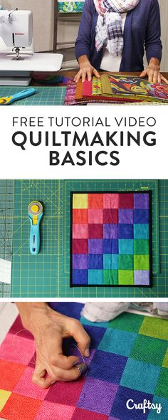 Learn quiltmaking basics in this free class, presented by Olfa. From tools and fabric to quilting and binding, find out how to create four easy quilts! Enroll in the free Craftsy class.