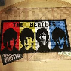 The Beatles perler beads by  sticker_collecter