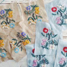 「増殖中… #embroidery #刺繍 #handmade #needlework #linen #wool #woolstitch #stitch #刺绣」