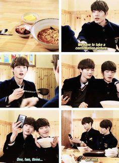Hahaha:) heung soo and nam soon is bff goals Korean Drama Quotes, Korean Drama Movies, Korean Actors, K Drama, Drama Film, Lee Jong Suk Kim Woo Bin, School 2013, Kdrama Memes, Friends Are Like