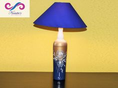 Where there is #love there is #light. ❤ #NamitasArtworx Product - TRI SHADED #LAMP The glass #bottle which is a base for this lamp is painted in three shades- white, golden and blue. The contemporary floral design adds to the elegant bottle. Click here for more Details & Price - http://www.namitasartworx.com/tri-shaded-lamp.html