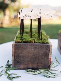 Flag escort cards: http://www.stylemepretty.com/2015/02/03/oregon-valley-outdoor-garden-wedding/ | Photography: Clary Pfeiffer - http://www.claryphoto.com/