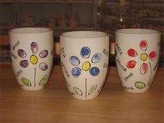 Pottery painting DIY Teacher appreciation gift idea.