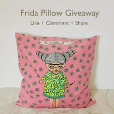 Last hours to participate on my Frida pillow giveaway!!!!  https://www.facebook.com/caracarminadolls