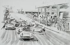 """Muestras en Avenida Escazú  """"Cara de velocidad"""" 130 x 195 cm  Acrílico sobre canvas  Ana Abregú 2011"""