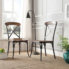 TRIBECCA HOME Nelson Industrial Modern Rustic Cross Back Dining Chair (Set of 2) | Overstock.com Shopping - The Best Deals on Dining Chairs