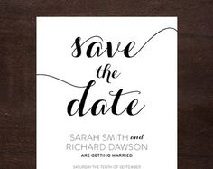 Printable Save The Date Cards MODERN DOTS with di berryberrysweet
