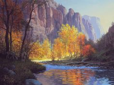 Shady Retreat on the Virgin River acrylic 18 by 24