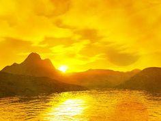 When the sun turns the sky gold. Yellow Sky, Shades Of Yellow, Mellow Yellow, Color Yellow, Yellow Fever, Baby Yellow, Lemon Yellow, Sunset Wallpaper, Hd Wallpaper