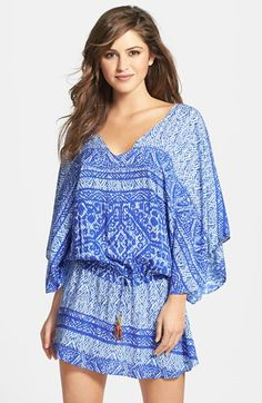 ViX Swimwear 'Carioca Vintage' Cover-Up Tunic - Love, I sure would find other ways to wear this!