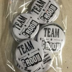 Team Groom pinback buttons getting ready to sail to their destination. Wishing this 'groom to be' a fun Bachelor party and a beautiful wedding!