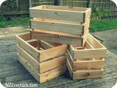 Mr Ecochick made these amazing wooden crates to store bulk items in our pantry. Since our cupboard was completely custom made store bought crates wouldn't fit and also these are ridiculously expensive. I got the idea fromthe house of Smiths' vintage crates. I've always wanted to make something out of pallets and so was super excited that we could make these crates out of recycled pallets. A wonderful friend gave us the pallets, we already had the plywood in the garage so the only thing we…