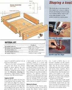 Build Hall Table - Furniture Plans