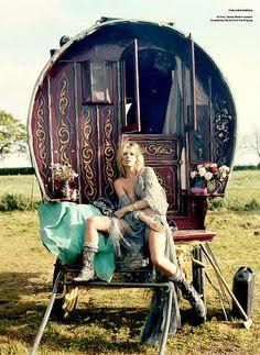 boho caravan.