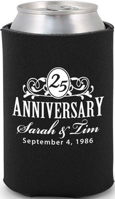 Totally Wedding Koozie - wedding anniversary design #koozie #anniversary