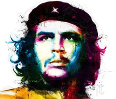 Great portrait of Ernesto Che Guevara, Viva La Revolucion, mixed media by artist Patrice Murciano from France. Oil Painting On Canvas, House Painting, Canvas Wall Art, Wall Art Prints, Murciano Art, Patrice Murciano, Che Guevara Images, Pop Art, Ernesto Che Guevara