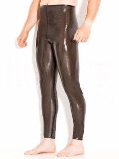 Rubber Leggings S/T Black Black in Latex & Rubber by Honour Clothing.