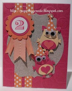 Sheri Kids Cards, Baby Cards, Owl Punch Cards, Valentine Day Love, Valentines, Monster Cards, Punch Art, Stamping Up, Stampin Up Cards