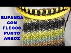 Loom Flowers, Knitted Flowers, Loom Knitting, Knitting Stitches, Youtube, Crafts, Round Loom, Weaving Looms, Fringe Scarf