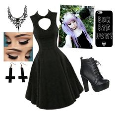 """""""Goth"""" by beautyisamaze ❤ liked on Polyvore featuring Speed Limit 98 and Chicnova Fashion"""