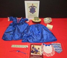 American Girl Doll Felicity's Christmas Story 11 Piece Outfit & Accessories ++ #AmericanGirl #Accessories #Felicity #FelicitysChristmasStory #DollDress #Ark #PleasantCo #dandeepop Find me at dandeepop.com