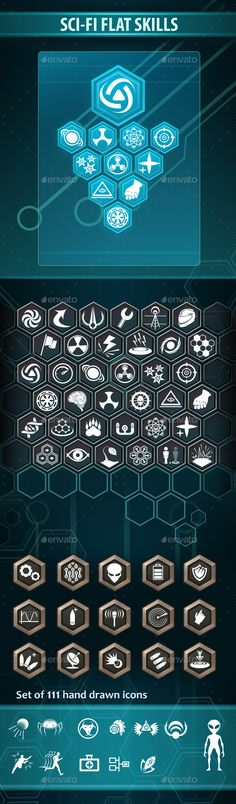 Sci-Fi Flat Skills - Miscellaneous #Game Assets