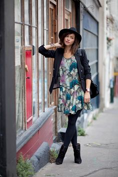 Love this dress with blazer