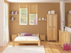 Znalezione obrazy dla zapytania bedroom ideas with light brown furniture