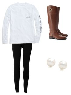 """Untitled #2"" by emilyfrazier3 on Polyvore featuring Tory Burch, Max Studio, Vineyard Vines and Tiffany & Co."