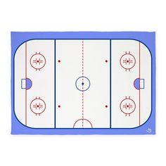 Ice Hockey Rink Rug for