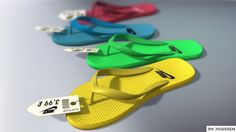 Nike Flip Flop 💙 Created By #Jim_Houssem with #maya #photoshop #BestPixel_Studios #yellow #green #blue #red