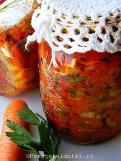 My Recipes, Cooking Recipes, Pickels, Romanian Food, Romanian Recipes, Tasty, Yummy Food, Preserves, Celery