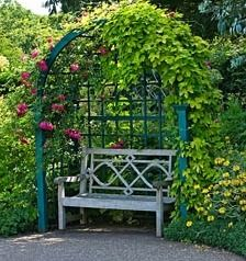 Exceptional Yellow Arbor And Bench   By Lloyd Christie Garden Architecture | Garden:  Swings U0026 Benches | Pinterest | Arbors, Garden Seat And Bench
