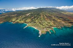 An aerial view of northwest Maui and Kapalua Resort. Kapalua Bay, DT Fleming Beach, Honolua Bay and the adjoining Mokule'ia Bay, located just north of Kapalua Resort. Hawaii Vacation, Maui Hawaii, Vacation Spots, Hawaii Hotels, Kauai, Vacation Ideas, Kapalua Resort, Maui Holiday