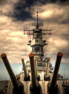 Photograph USS Missouri Big Guns by Steven Bennett on Navy Marine, Navy Military, Pearl Harbor Hawaii, Navy Aircraft Carrier, Us Navy Ships, Naval, Fire Powers, Big Guns, United States Navy