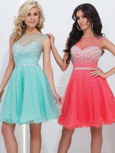 A-Linie/Princess-Stil Ärmellos U-Ausschnitt Perlenstickerei Organza Kurze Kleider