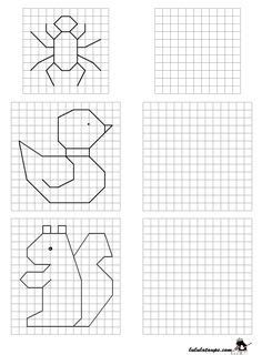 Symmetry Worksheets, First Grade Math Worksheets, Preschool Learning, Teaching Art, Math Games, Math Activities, Drawing For Kids, Art For Kids, Free Printable Puzzles