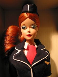 The Stewardess Barbie, silkstone career collection. By Anais.