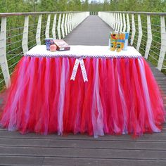 Tutu Tulle Tablecloth for Wedding, Birthday, Baby Shower