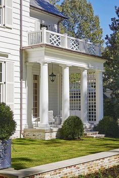 james f carter | all white exterior with side covered porch