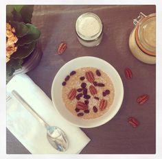 receta de porridge de amaranto y coco