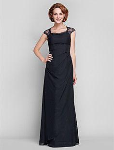 Sheath/Column Queen Anne Chiffon Mother of the Bride Dress (... – USD $ 149.99