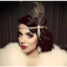 1920's hairstyles with feather headband - Google Search