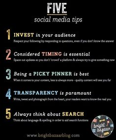 Follow these 5 social media tips for success. #socialmedia