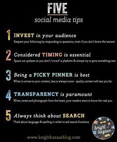 Follow these 5 social media tips for success. #socialmedia
