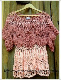 Fabianne Castilho: Blusa Dorothy feita em crochê de grampo