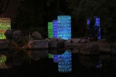 Water-Towers, Bruce Munro: Light at Franklin Park Conservatory.Columbus, OH Photo by Mark Pickthall