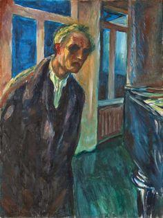 Edvar_Munch_Autorretrato_Noctámbulo_1924