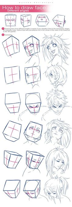 How To Draw Face - Different Angles by wysoka.deviantart.com on @DeviantArt: