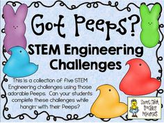 Great for Spring experiments and challenges. STEM Engineering Challenge Pack ~ Got Peeps? First Grade Science, Middle School Science, Elementary Science, Science Classroom, Teaching Science, Stem Teaching, Elementary Library, Classroom Ideas, Science Activities
